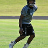 Alva's Davion Murrow during a 7 on 7 drill Wednesday August 10, 2016 at Alva High School. (Billy Hefton / Enid News & Eagle)