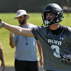 Alva's Austin Shklar calls out signals during a 7 on 7 drill Wednesday August 10, 2016 at Alva High School. (Billy Hefton / Enid News & Eagle)