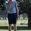 Colton Jackson reacts to missing a putt on the 9th green during the Wheat Capital Tournament Saturday August 5, 2017 at Meadowlake Golf Course. (Billy Hefton / Enid News & Eagle)