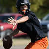 Fairview's Chad McGolden throws a pass during practice Wednesday August 9, 2017. (Billy Hefton / Enid News & Eagle)