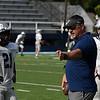 Head coach, Steve Hayes, during the first practice in pads Friday August 11, 2017. (Billy Hefton / Enid News & Eagle)
