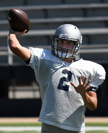 Enid's Mason Skrimager during practice August 23, 2017. (Billy Hefton / Enid News & Eagle)
