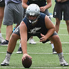 Enid's Austin Whitehead during the first day of practice Monday August 7, 2017. (Billy Hefton / Enid News & Eagle)