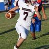 Waynoka's Brady Blankenship gets loose against DCLA Thursday August 30, 2018 at Deer Creek-Lamont High School. (Billy Hefton / Enid News & Eagle)
