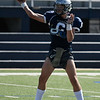 Enid's Blake Priest throws a pass during practice Thursday August 30, 2018 at D. Bruce Selby Stadium. (Billy Hefton / Enid News & Eagle)