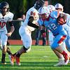 Chisholm's Bryce Boeckman runs against Fairview August 31, 2018 at Chisholm High School. (Billy Hefton / Enid News & Eagle)