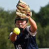 Enid's Katelyn Bezdicek delivers a pitch against Broken Arrow in the first game of the season Monday, August 10, 2020 at Pacer Field. (Billy Hefton / Enid News & Eagle)