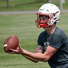 Chisholm's Will Bullard during the first day of practice Monday, August 10, 2021 at Chisholm High School. (Billy Hefton / Enid News & Eagle)