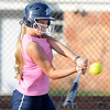 Lacey Hudson connects on a triple against Jenks Tuesday at Pacer Field. (Staff Photo by BILLY HEFTON)