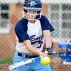 Enid's Claire Andrews drives in a run against Fairview Monday at Pacer Field. (Staff Photo by BILLY HEFTON)