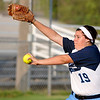 Enid's Ally Lewis delivers a pitch against Fairview Monday at Pacer Field. (Staff Photo by BILLY HEFTON)