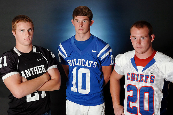 (Left to right) Brady Krittenbrink, Quenten Thayer and Tyler Terrell. (Staff Photo by BILLY HEFTON)