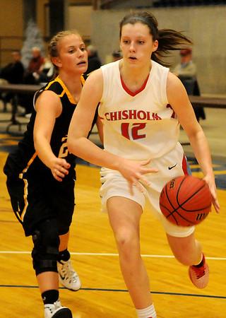 Chisholm's Kaylee Peterson (Staff Photo by BONNIE VCULEK)