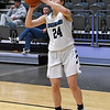 Enid's Claire Dodds shoots against Heritage during the first round of the Enid Holiday Classic Thursday December 27, 2018 at the Central National Bank Center. (Billy Hefton / Enid News & Eagle)