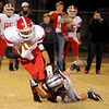 Garber's Alec Monsees saves a touchdown as he tackles Ringwood's Rolando Resendiz after a long run at Warren Dell Stadium in Garber Friday, Nov. 1, 2013. (Staff Photo by BONNIE VCULEK)