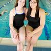 Enid High swimmers, Hunter Mceachern and Sara Nazari. (Staff Photo by BILLY HEFTON)