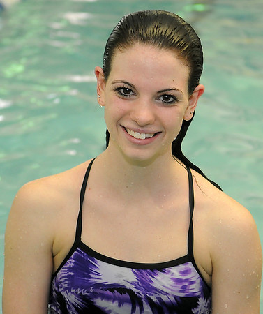 Enid High School swimmer, Whitney Livesay, pauses for a portrait at the Denyy Price YMCA Thursday, Feb. 7, 2013. Livesay and the EHS swim team will host Peidmont today during senior night festivities. (Staff Photo by BONNIE VCULEK)
