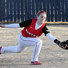 NOC's Shyanna Sigman lunges for the ball against Hutchinson Community College Saturday at Meadowlake Park. (Staff Photo by BILLY HEFTON)