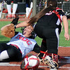 NOC Enid's Bailey King scores for the Lady Jets at David Allen Memorial Ballpark Friday, Feb. 28, 2014. (Staff Photo by BONNIE VCULEK)