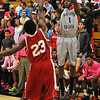 NOC Enid's Ja'Wan Smith shoots over NOC Tonkawa's Van Hutchinson Monday at the Mabee Center. (Staff Photo by BILLY HEFTON)