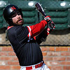 NOC Enid's Anthony Alvarez connects on a base hit against Brown Mackie Sunday February 14, 2016 at David Allen Memorial Ballpark. (Billy Hefton / Enid News & Eagle)