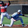 NOC Enid's Anthony Alvarez beats out a bunt for a base hit against SE Nebraska CC Saturday February 13, 2016 at David Allen Memorial Ballpark. (Billy Hefton / Enid News & Eagle)