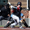 NOC Enid's Daniel Davila hits a RBI single against SE Nebraska Saturday February 11, 2017 at David Allen Ballpark. (Billy Hefton / Enid News & Eagle)