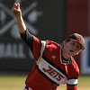 NOC Enid's  Josh Rutland delivers a pitch against SE Nebraska during the opening game of the season Friday at David Allen Ballpark Friday February 10, 2017. (Billy Hefton / Enid News & Eagle)