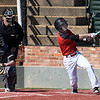 NOC Enid's Clayton Peterson connects on his second home run in the first game of the 2018 season against Southeast CC Thursday February 8, 2018 at David Allen Memorial Ballpark. (Billy Hefton / Enid News & Eagle)