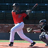 NOC Enid's E.J. Taylor connects for a base hit against Southeast CC Thursday February 8, 2018 at David Allen Memorial Ballpark. (Billy Hefton / Enid News & Eagle)