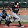 NOC Enid's Griffin Keller hits a 2 run home run against Southeast CC Friday February 9, 2018 at David Allen Memorial Ballpark. (Billy Hefton / Enid News & Eagle)