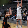Pioneer's Eli Frazee shoots over Preston's Cace Love during a Class 2A Area I elemination game Thursday February 28, 2019 at the Central National Bank Center. (Billy Hefton / Enid News & Eagle)