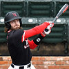 NOC Enid's Seth Graves hits a single against Northeast Nebraska Saturday February 2, 2019 at David Allen Memorial Ballpark. (Billy Hefton / Enid News & Eagle)