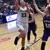 Seiling's Macy Gore puts up a shot in the lane against Hydro-Eakly during the class A area 1 championship game Friday Feb.22, 2019 at the Central National Bank Center. (Billy Hefton / Enid News & Eagle)