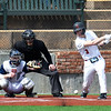 NOC Enid's Gage Ninness connects hits a  single against DMAC Saturday, February 29, 2020 at David Allen Memorial Ballpark. (Billy Hefton / Enid News & Eagle)