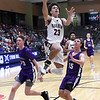 Garber's Daegan Vandiver leaps pass Hydro-Eakly's Kolsen Tharp and Nolan Gore during the championship game of the Area 1 tournament Friday, February 28, 2020 at the Stride Bank Center. (Billy Hefton / Enid News & Eagle)