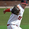 NOC Enid's Dylan Turner delivers a pitch against DMAC Saturday, February 29, 2020 at David Allen Memorial Ballpark. (Billy Hefton / Enid News & Eagle)