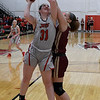 NOC Enid's Lauren Wade puts up a shot over Redlands' Karyssa Jackson Thursday, February 20, 2020 at the NOC Mabee Center. (Billy Hefton / Enid news & Eagle)