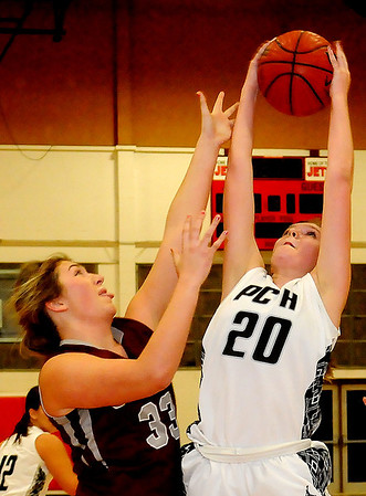 Pond Creek-Hunter Lady Panthers defeat Garber Lady Wolverines 69-48. (Staff Photo by BONNIE VCULEK)