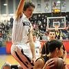 Pioneer's Sage Lamunyon blocks the lane against Alva during the Wheat Capital Basketball Championship game at Chisholm High School Saturday, Jan. 10, 2015. (Staff Photo by BONNIE VCULEK)