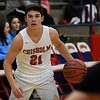 Chisholm's Scott Grebe looks for an opening against Alva during the Wheat Capital Basketball Tournament Thursday January 5, 2017 at Chisholm High School. (Billy Hefton / Enid News & Eagle)