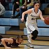 Pioneer's Megan Carson falls to the floor after Waukomis' Makayla Conrady steals the ball Friday January 27, 2017 at Waukomis High School. (Billy Hefton / Enid News & Eagle)