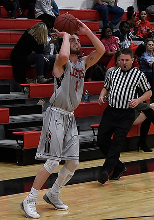 NOC Enid's Lense Ramey shoots against Seminole State Thursday January 25, 2018 at the NOC Mabee Center. (Billy Hefton / Enid News & Eagle)