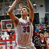 Chisholm's Alex Angleton scores against Blackwell during the opening round of the 48th Annual Wheat Capital Basketball Tournament Thursday January 4, 2018 at Chisholm High School. (Billy Hefton / Enid News & Eagle)
