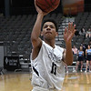 Enid's Darrin Ryan gets off a shot against Putnam City North Tuesday January 30, 2018 at the Central National Bank Center. (Billy Hefton / Enid News & Eagle)