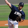 Enid Minors' Ty Golay, from Covington-Douglas High School, pitches during a game against the OKC Shockers at David Allen Memorial Ballpark Monday, July 1, 2013. (Staff Photo by BONNIE VCULEK)
