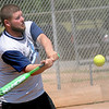Akin 2 Live's Jared Benton connects for a single against Suit Up during the ASA Men's District Softball State Qualifier at Kellet Ballpark Saturday, July 13, 2013. (Staff Photo by BONNIE VCULEK)