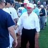 Enid Majors and coaches congratulate members of the 1954 George E. Failing American Legion team at David Allen Memorial Ballpark on the team's 60th anniversary of their State Legion Championship. (Staff Photo by BONNIE VCULEK)