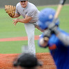 Enid Majors' Bates Enmeier pitches to an OKC Athletics' batter during the Connie Mack State Baseball Tournament at David Allen Memorial Ballpark Friday, July 18, 2014. (Staff Photo by BONNIE VCULEK)