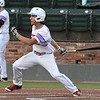 D-BAT Gowins' Caeden Trenkle gets a base hit against Albuquerque Cage Rats during the Connie Mack South Plains Regional Tournament at David Allen Memorial Ballpark July 22, 2017. (Billy Hefton / Enid News & Eagle)
